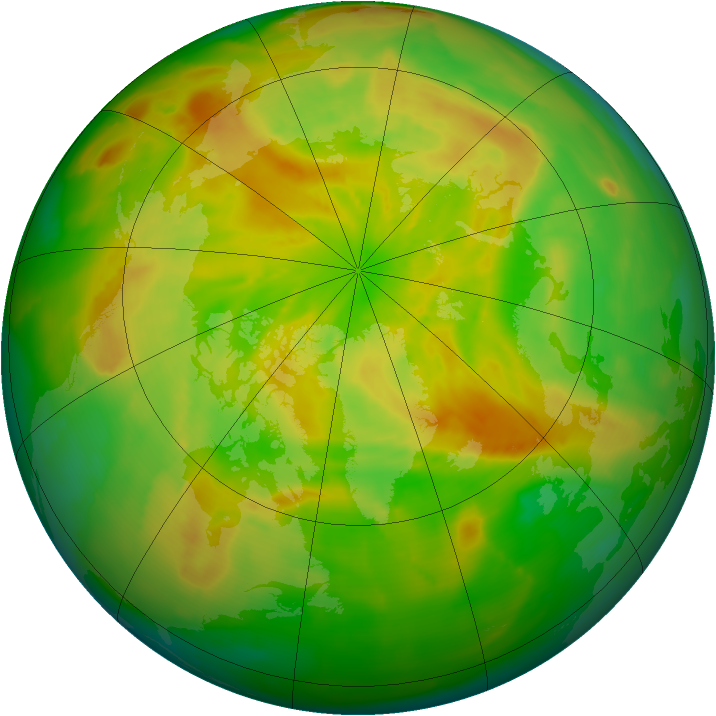 Arctic ozone map for 16 May 2012